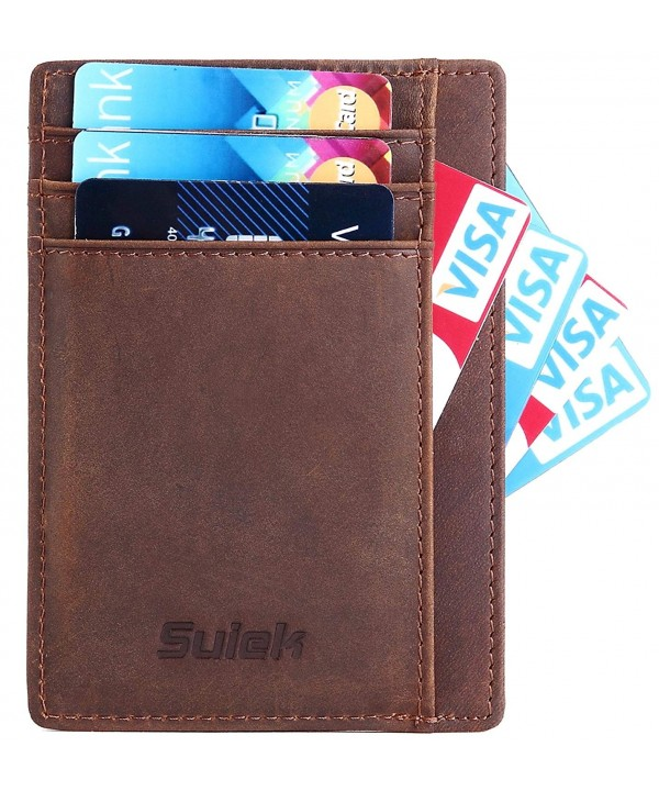Minimalist Wallet Leather Pocket Credit