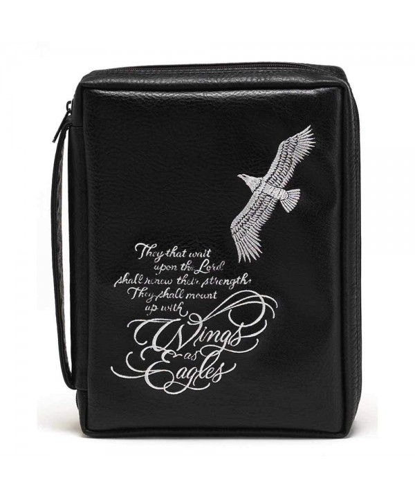 Eagle Black Embroidered Leather Handle