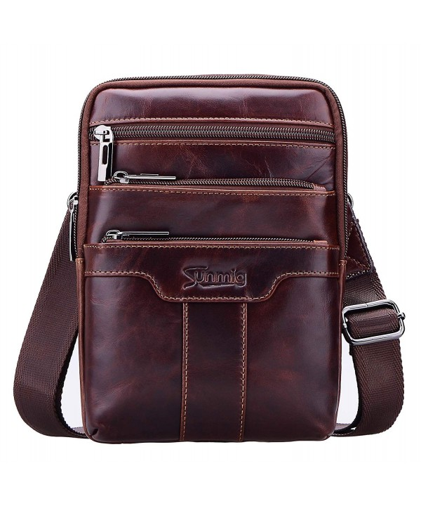 Sunmig Vintage Shoulder Messenger brown 3803