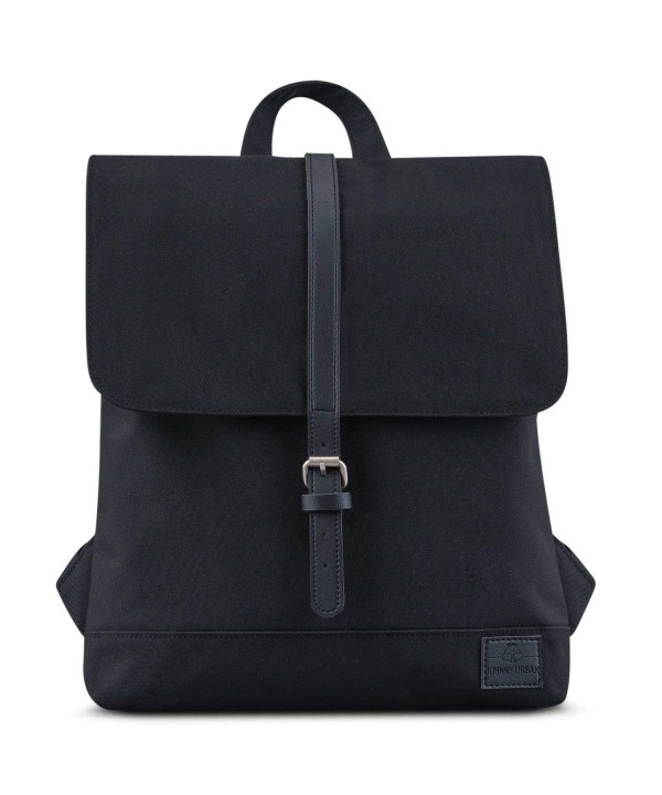 Small Backpack Women Black Recycled