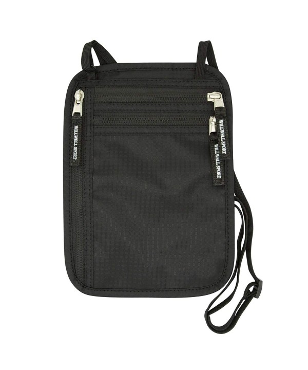 39ca9f8aea9a Neck Wallet RFID Passport Holder Outdoor Waterproof Hanging Neck  Multi-function Chest Bag Package - Black - CL18GZCQYQK