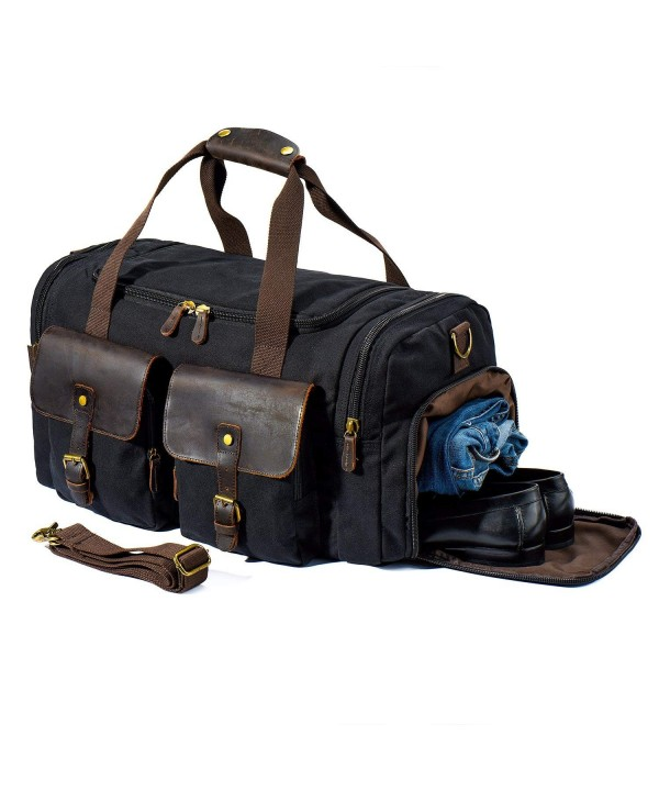 Travel Duffle Leather Weekend Overnight