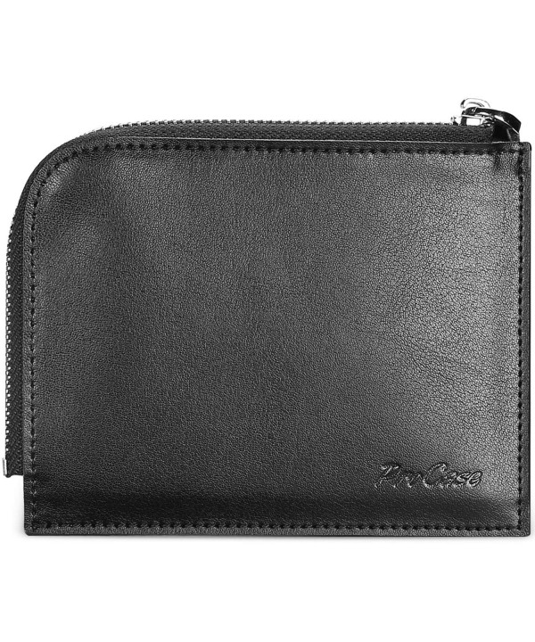 Genuine Leather Change Zipper Wallet