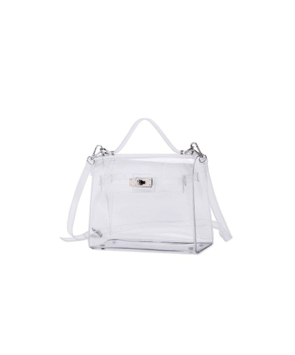 Transparent Shoulder Handbags Bags Silver Hardware