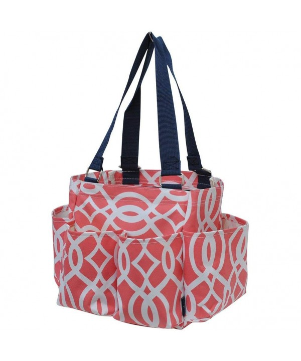 Geometric Coral NGIL Zippered Organizer