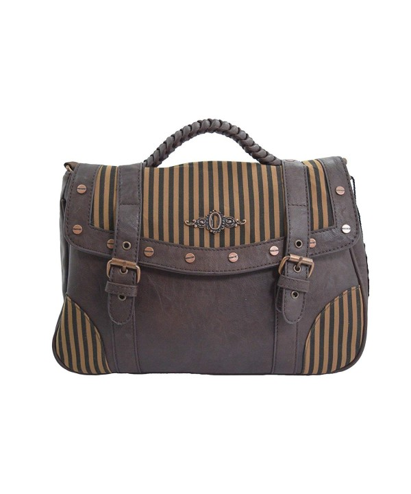 Banned Vintage Steampunk Stripes Handbag