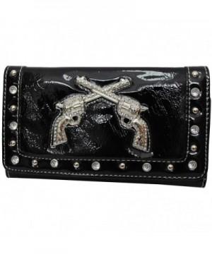 Western Rhinestone Fashion Tri fold Wallet