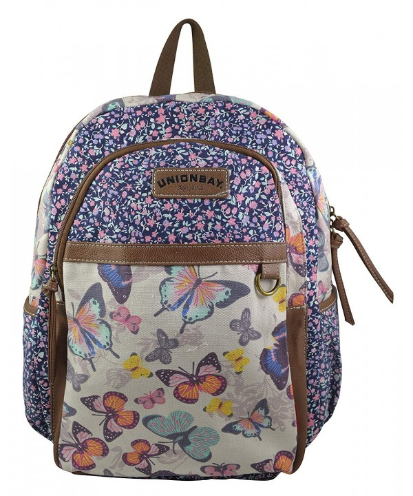 Unionbay Elephant Butterfly Backpack Natural