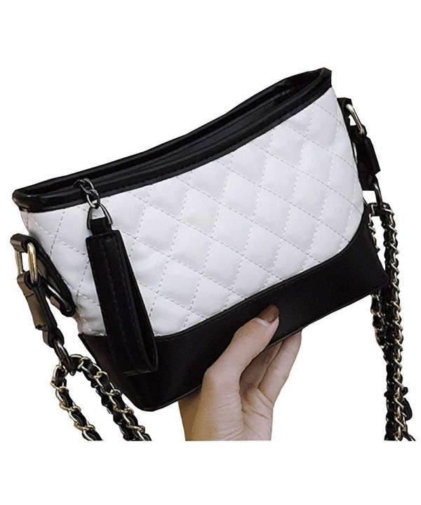 Womens Quilted Leather Cross body Handbags
