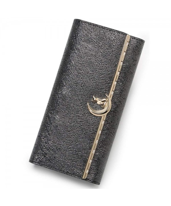 FOXER Leather Wallet Trifold Clutch