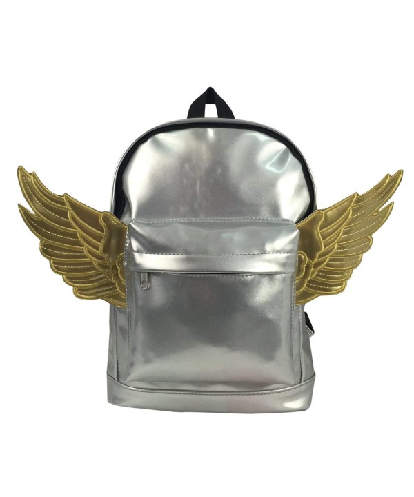 Casual Fashion Backpack Metallic Silver