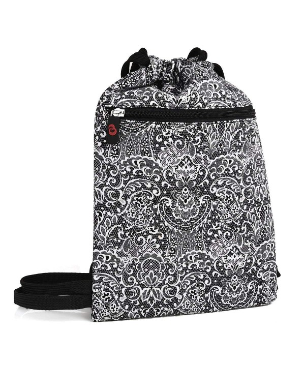 Paisley Printed Drawstring Backpack Festival