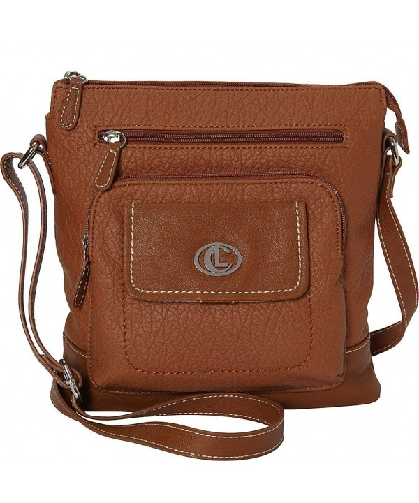 Aurielle Carryland Flip Flap Crossbody Tobacco