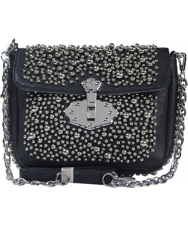 Fashion handbag Beaded Shoulder ZC9931 BK