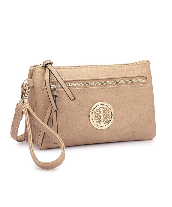 Multi pocket Wristlet Convertible Crossbody Shoulder