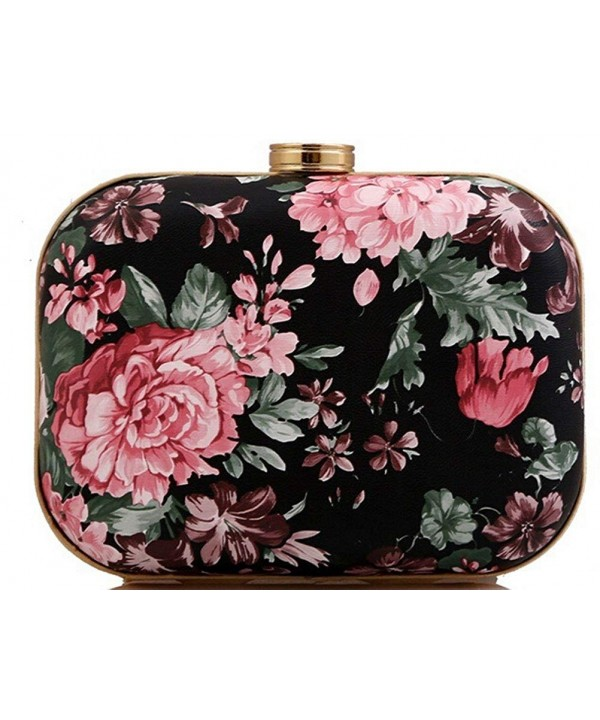 Buenocn Box like Floral Evening Clutch