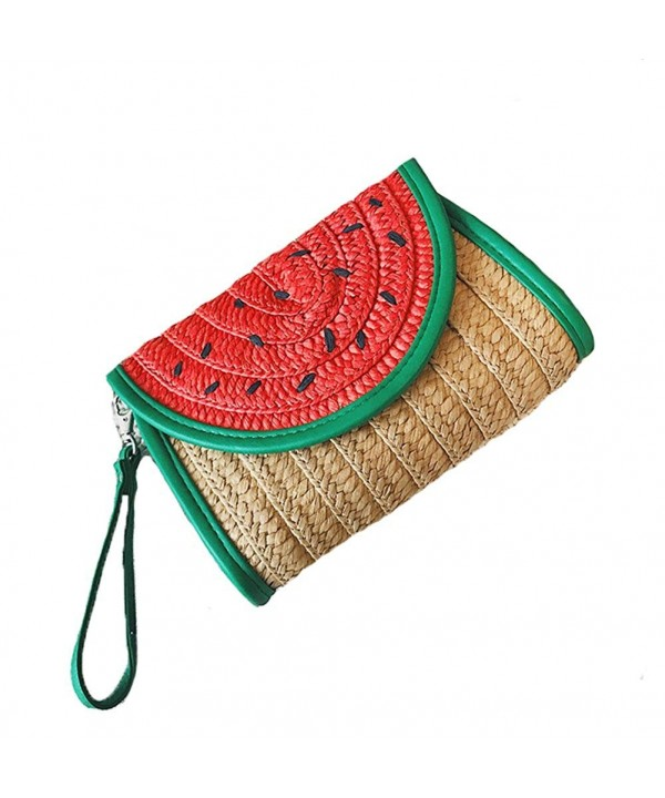 Tonwhar Watermelon Summer Straw Woven