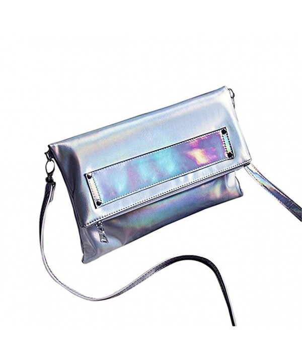 Mogor Hologram Leather Crossbody Shoulder