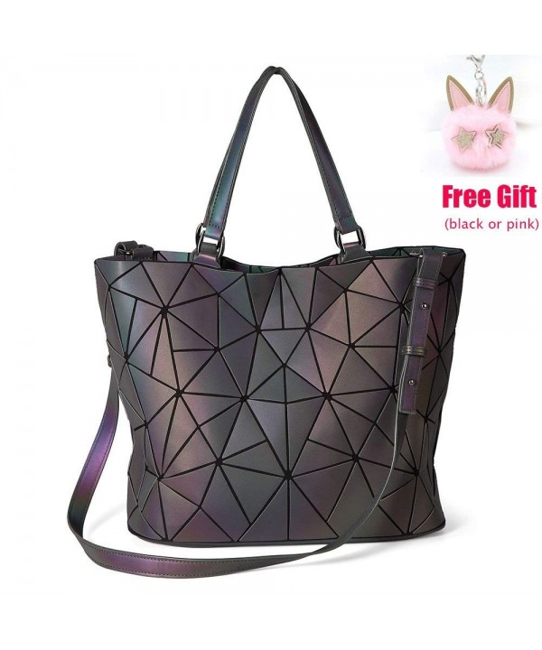 LOYOMA Geometric Luminous Holographic Shoulder