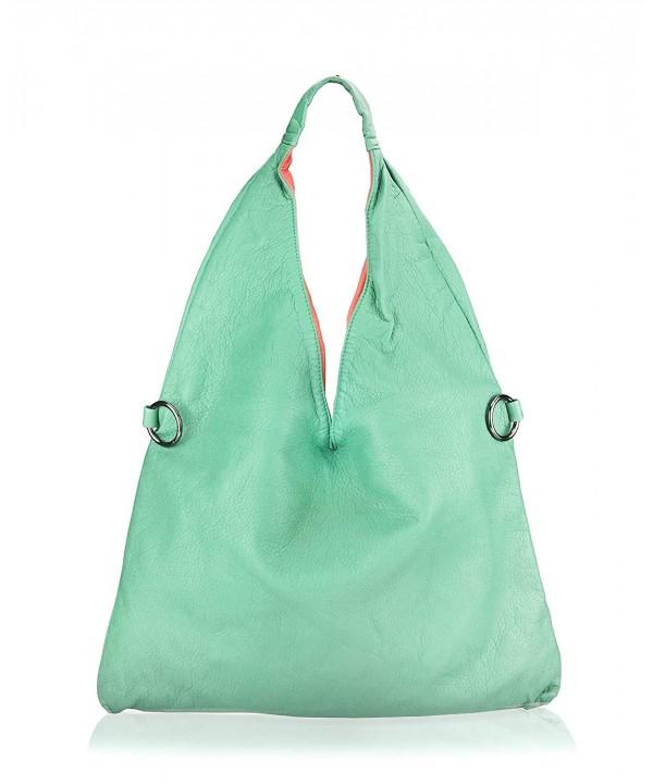 Hoxis Washed Leather Shoulder Handbag