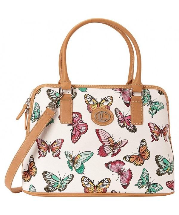 Aurielle Carryland Butterfly Print Dome Satchel