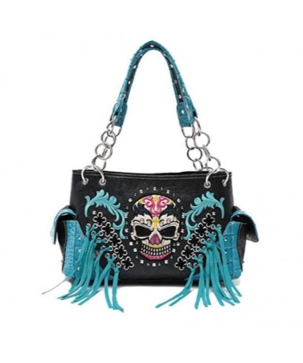 Western Handbag Whipstitch Concealed Shoulder