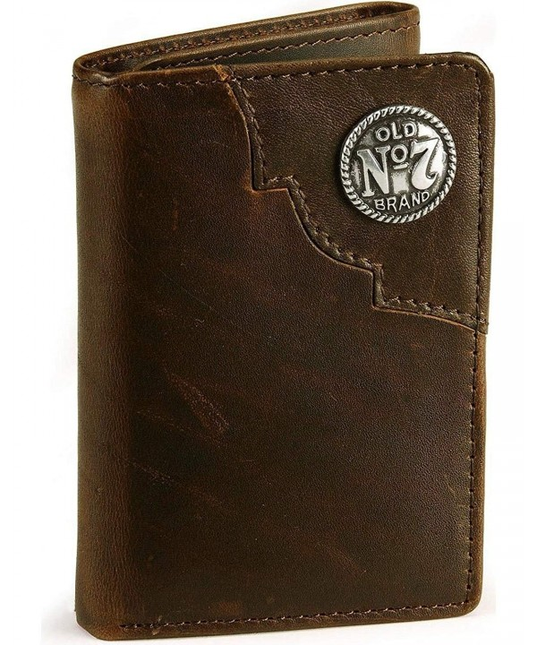 Jack Daniels Tri Fold Leather Wallet