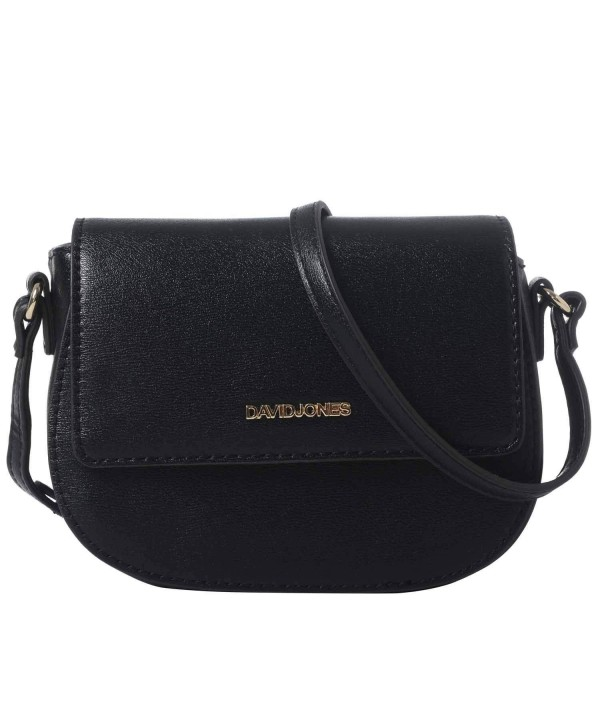 DAVIDJONES Leather Crossbody Shoulder Saddle