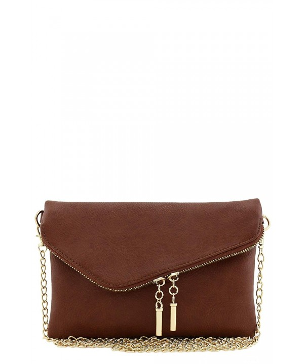 Envelope Wristlet Clutch Crossbody Chain
