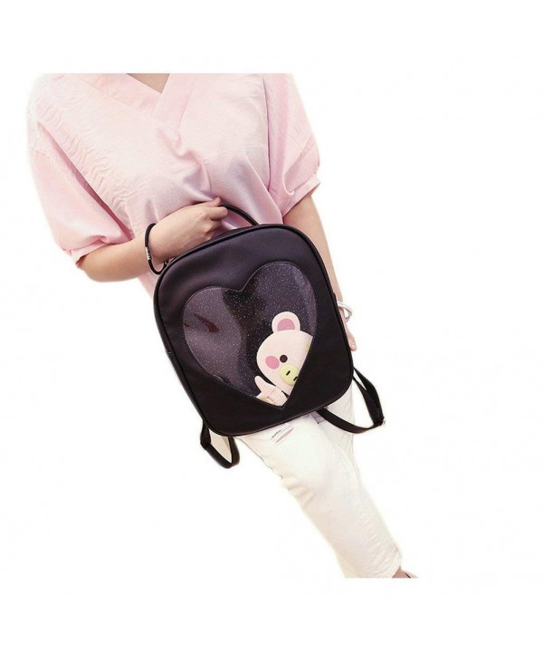 Leather Backpack Plastic Transparent School
