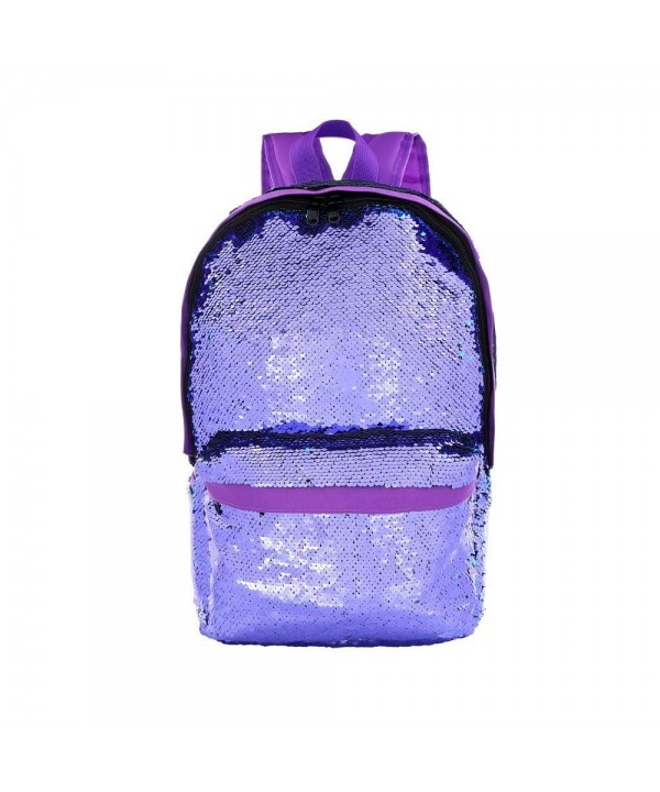 Fashion Reversible Sequins Backpack Students