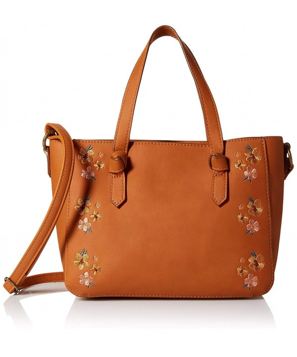 T Shirt Jeans Satchel Floral Embroidery