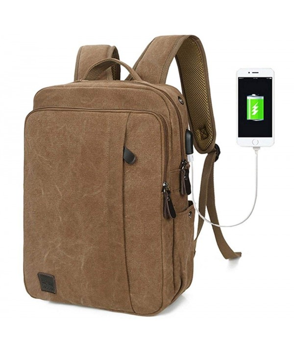 SHKEHO kehong Fashion Canvas Backpack Charging