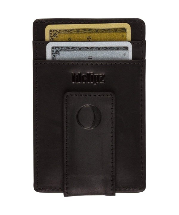 Slim Leather Money Clip Wallet