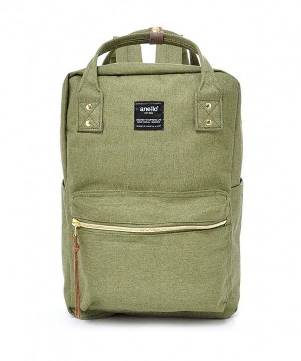 Anello Polyester Canvas Square Backpack