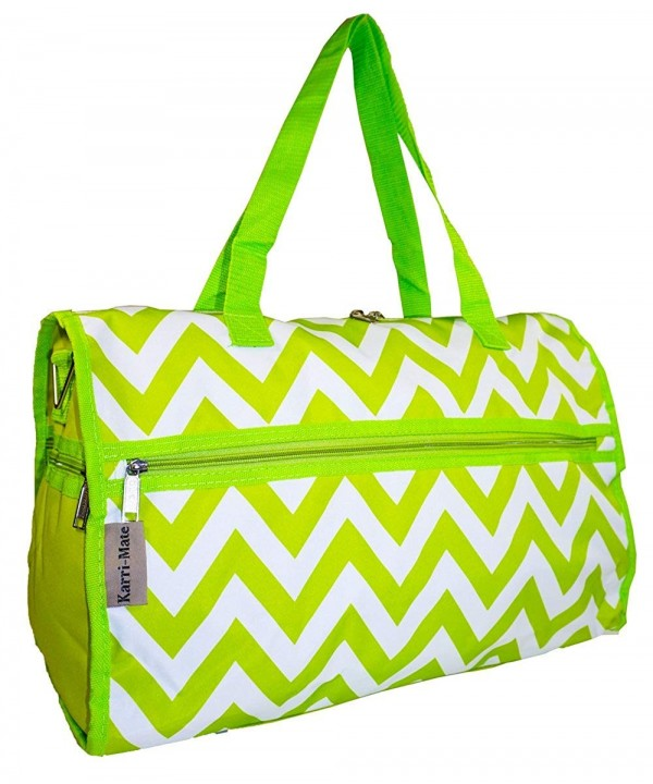 Karri Mate Chevron Duffle Bag Green