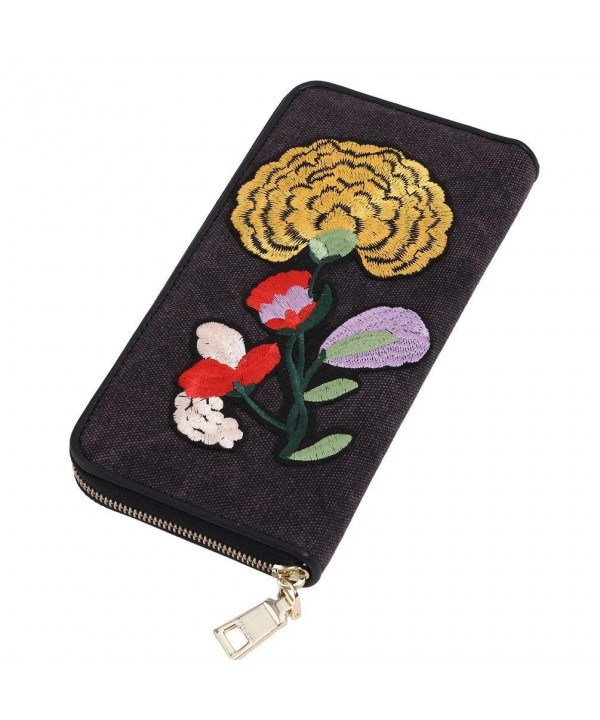MUSAA Embroidery Cotton Canvas Multi Card