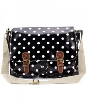 Anladia Oilcloth Messenger Satchel Shoulder