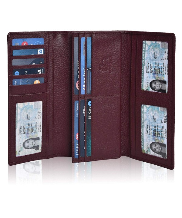 Leather Checkbook Wallets Credit Estalon