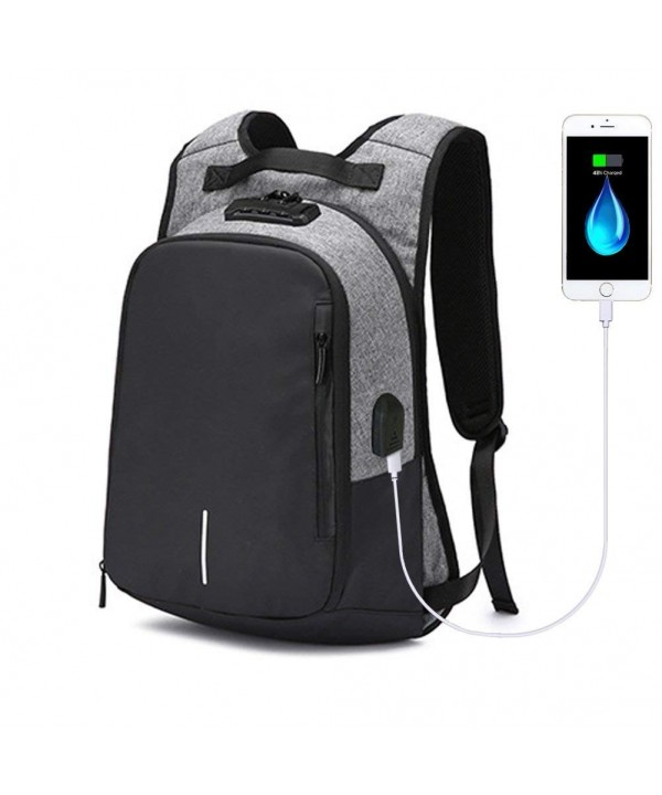 Anti Theft Backpack Charging Waterproof Notebook