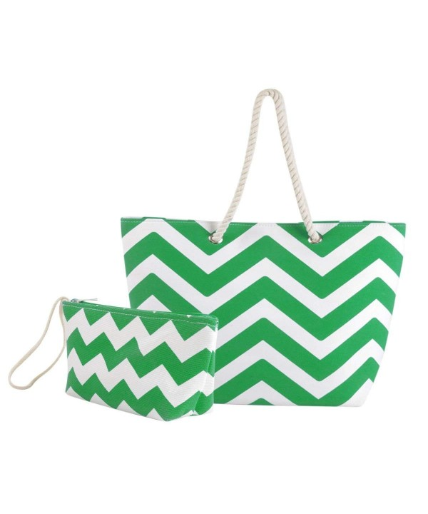 Mardini Striped Canvas Chevron Shoulder