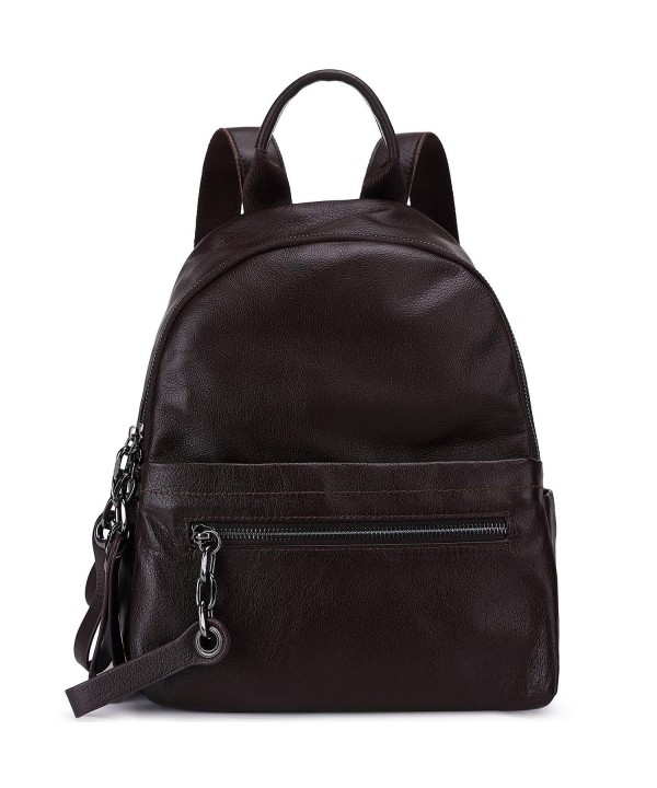 Pebble Leather Backpack Shoulder College