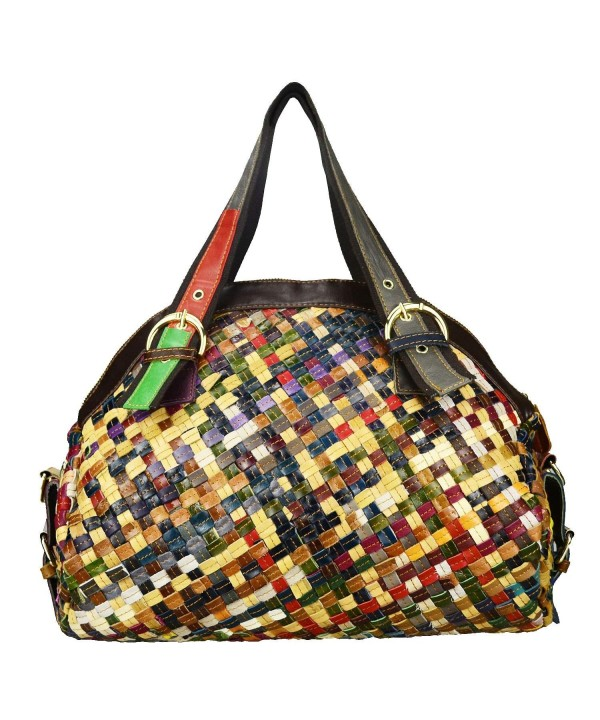 Sibalasi Multicolor Woven Bohemian Patchwork Colorful