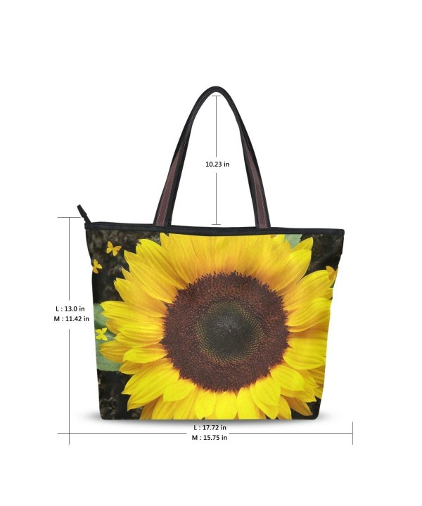 Handle Shoulder Sunflowers Ladies Handbag