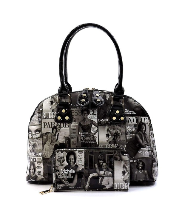 Magazine Collage Satchel Michelle Handbag