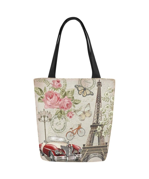 InterestPrint Vintage Canvas Shoulder Handbag