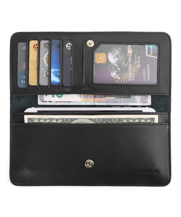 ECOSUSI Wallet Bifold Leather Minimalist