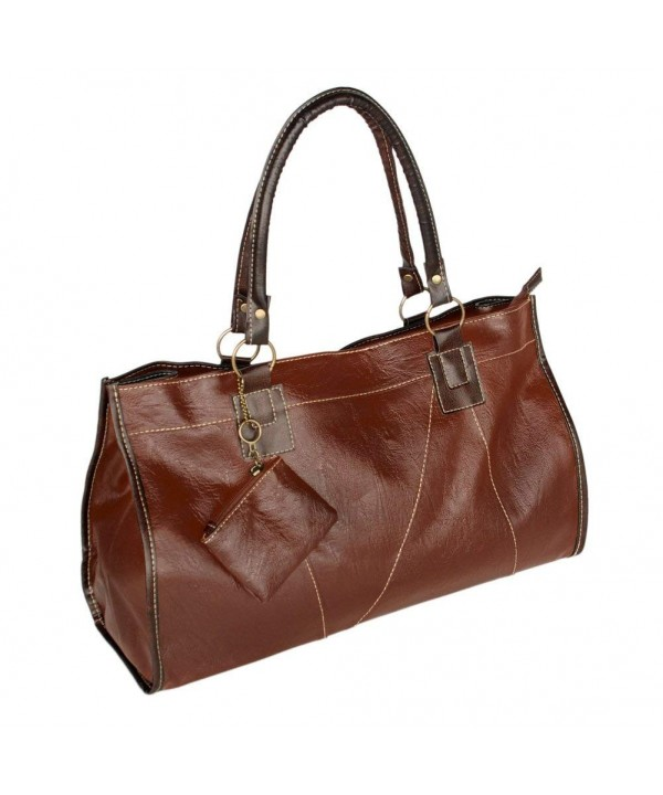 Generous Leatherette Satchel Handbag Shoulder