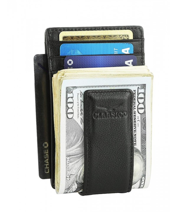 Leather Wallet Pocket Blocking Magnetic