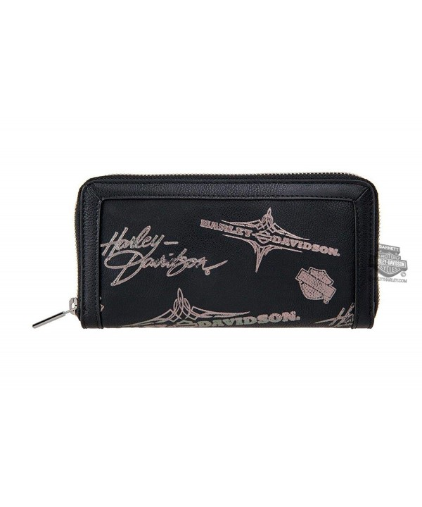 Harley Davidson Womens Silver Pinstriping Leather